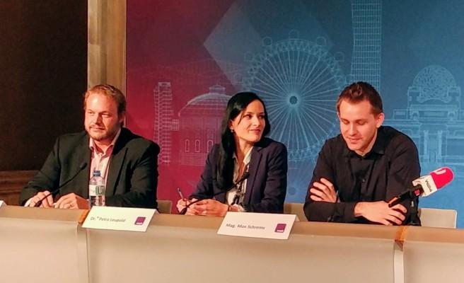 Les fondateurs du noyb: Christof Tschohl, Petra Leupold et Max Schrems.