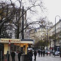 Vente de saucisses à Vienne