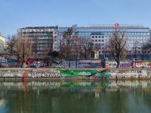 Le canal du Danube en février