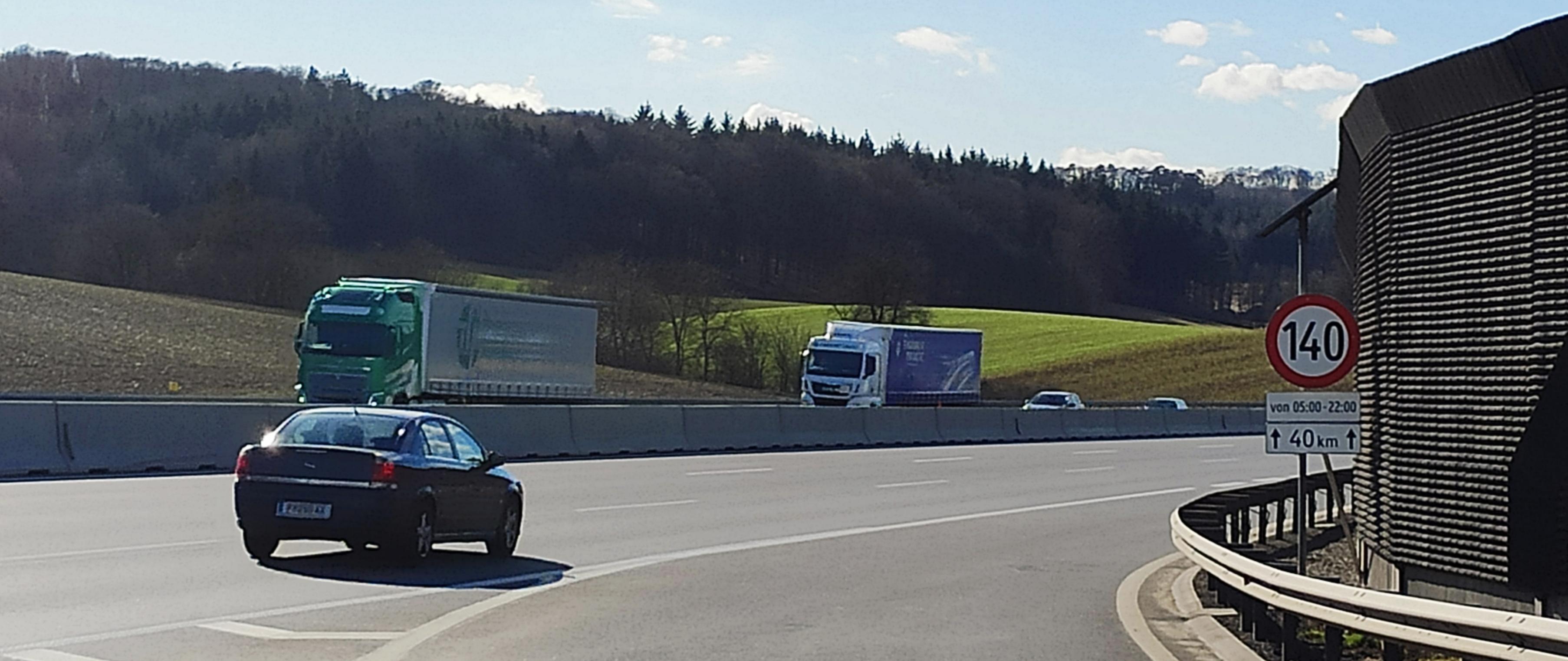 autoroute autrichienne à 140